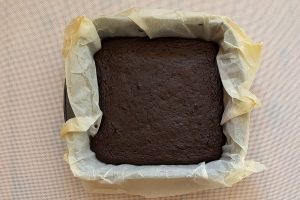 Cooked sweet potato brownies