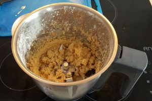 Parmesan oatcake mixture ready to roll out