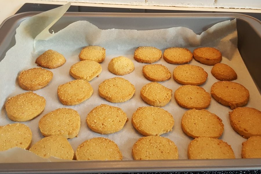 Parmesan oatcakes fresh out of the oven